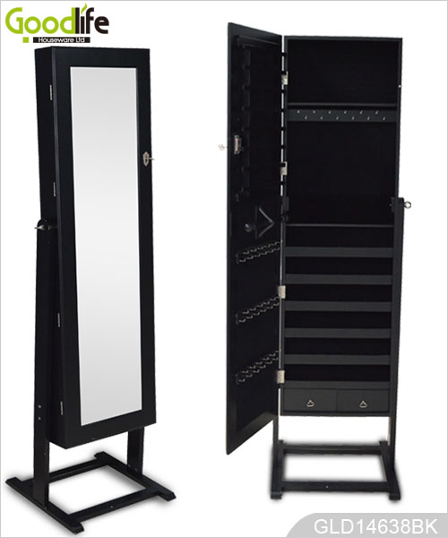 jewelry armoire with full length mirror. Black Bedroom Furniture Sets. Home Design Ideas