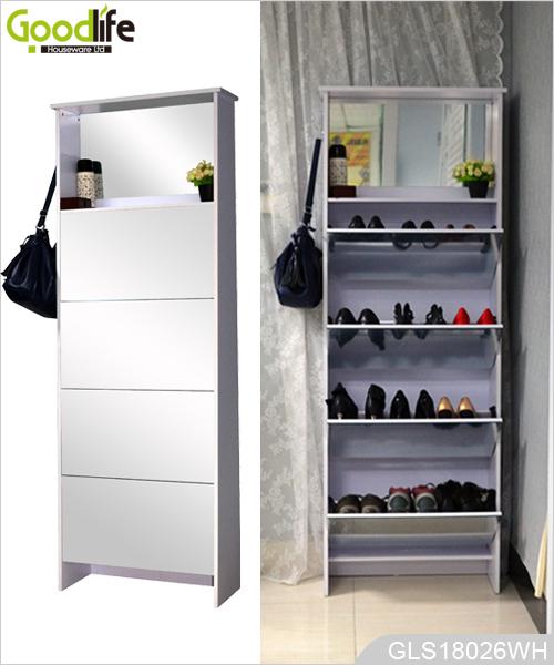Chine chaussure usine armoire de gros haut de meuble chaussures miroir - Meubles par correspondance ...