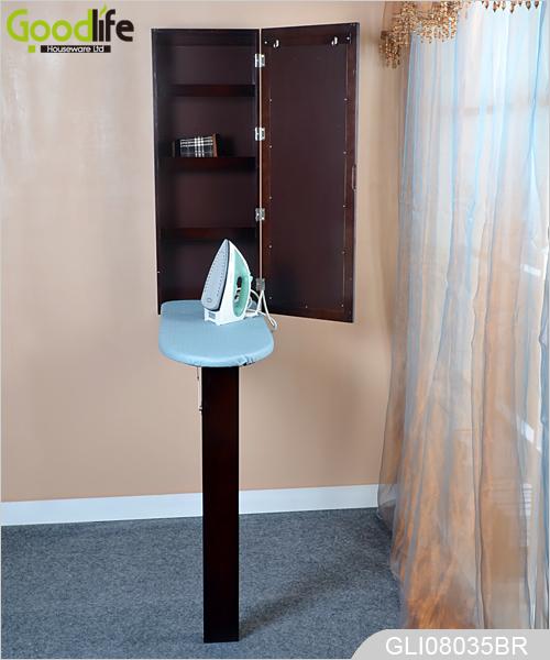 wand h ngen h lzerne gespiegelt ausklappbaren b geltisch. Black Bedroom Furniture Sets. Home Design Ideas