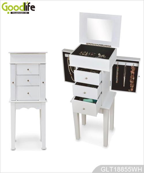 Gabinete de madera permanente de almacenamiento de la joyer a for Gabinete de almacenamiento dormitorio