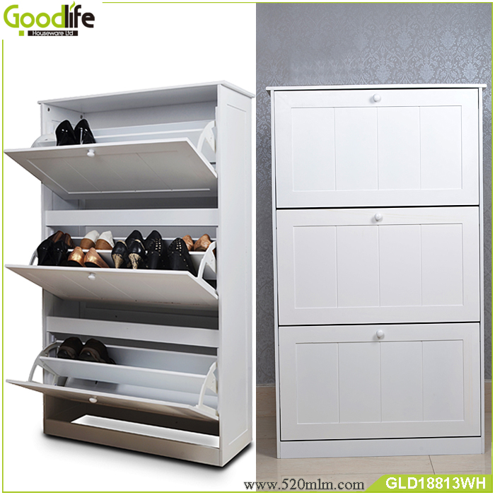 Painting High Gloss Kitchen Cabinets: High Gloss Paint 3 Layers Wooden Shoe Cabinet Factory
