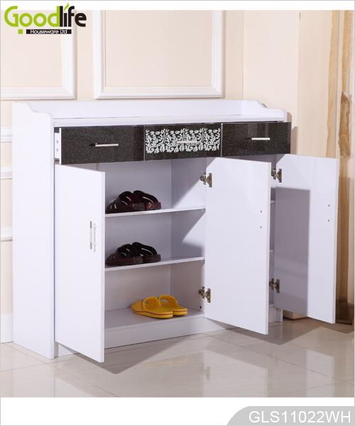 Goodlife madera gabinete de almacenamiento con 3 cajones for Gabinete de almacenamiento de bano de madera