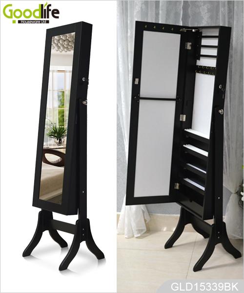 Miroir pleine longueur dressing et bijoux stockage combin for Miroir longueur