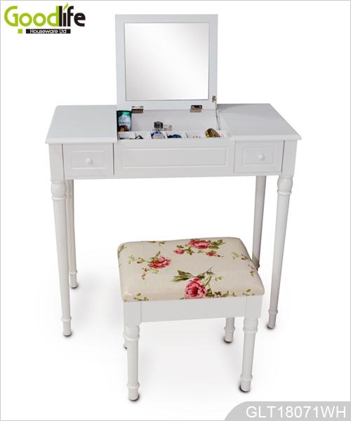 China fabricante de muebles con espejo tocador de madera for Tocador de madera maciza
