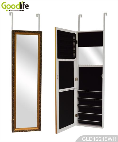 Di legno sopra l 39 armadio gioielli specchio della porta - Armadio specchio gioielli ...