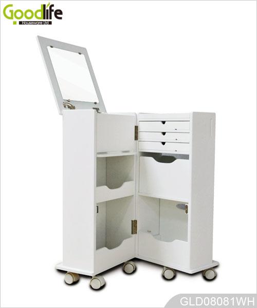 Venta caliente goodlife funci n m ltiple con ruedas de for Gabinete de almacenamiento dormitorio