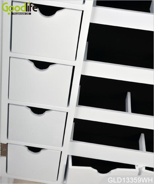 standspiegel schmuck schrank mit led licht und fotorahmen. Black Bedroom Furniture Sets. Home Design Ideas