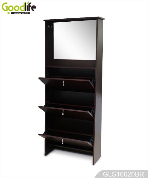 Chaussures miroir de l 39 armoire avec crochet for Armoire chaussure miroir