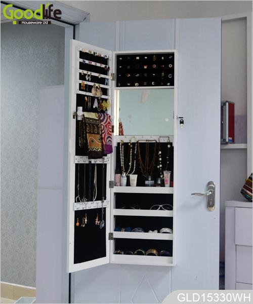 bo tier montage mural de mat riau mdf avec porte cadre blanc. Black Bedroom Furniture Sets. Home Design Ideas