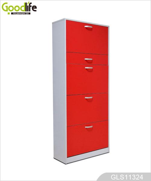 Mdf melamina gabinete de almacenamiento de calzado de madera for Gabinete de almacenamiento dormitorio