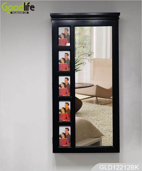 beliebte holz gespiegelt schmuck schrank f r schmuck halter mit schminkspiegel und 5. Black Bedroom Furniture Sets. Home Design Ideas