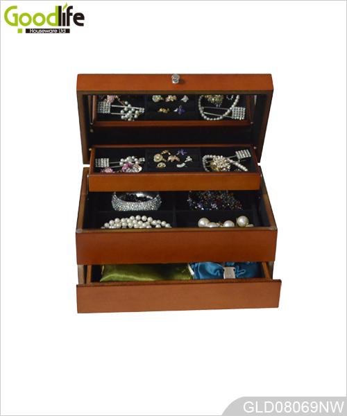 Contenitore di monili linkage mobili camera da letto in legno for Design di mobili in legno letto