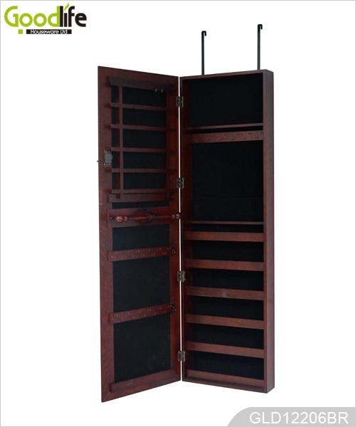 hot sale t r h ngende holzspiegelschrank f r schmuck. Black Bedroom Furniture Sets. Home Design Ideas
