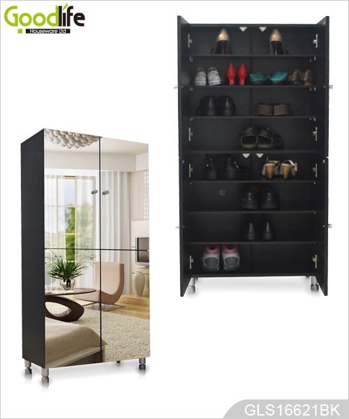 Mueble para zapatos al por mayor de 4 espejo gabinete for Mueble para zapatos con espejo
