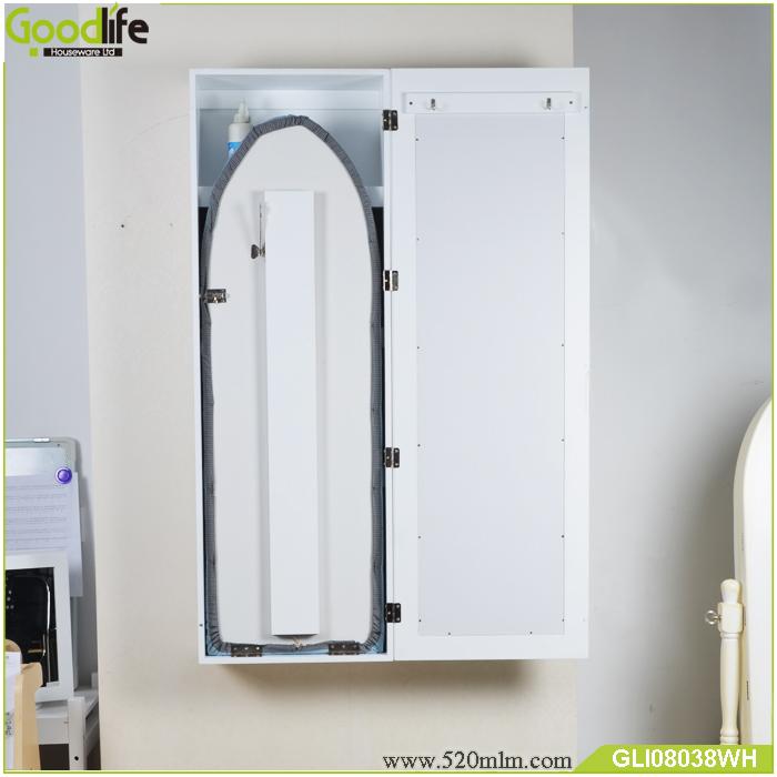 wand ausklappbaren mirrored holz b gelbrett schrank gli08038. Black Bedroom Furniture Sets. Home Design Ideas