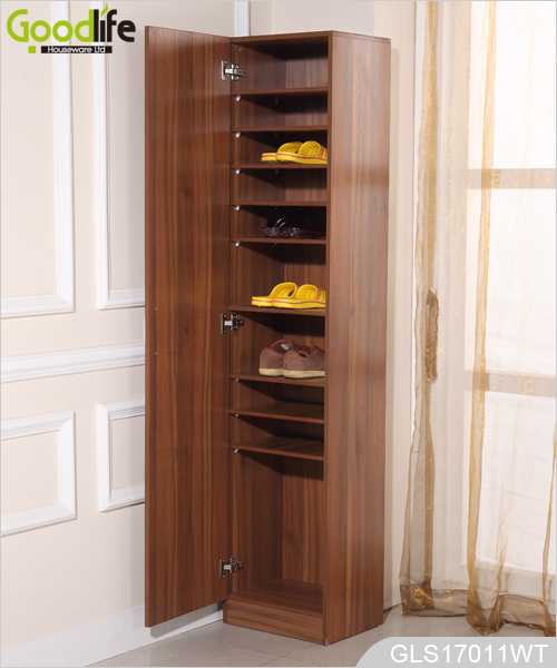 Mdf wooden shoe rack avec tablettes entreposage l 39 int rieur for Entreposage interieur pour vr