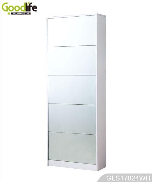 Grand miroir armoire de rangement chaussures pour la maison - Armoire chaussures miroir ...