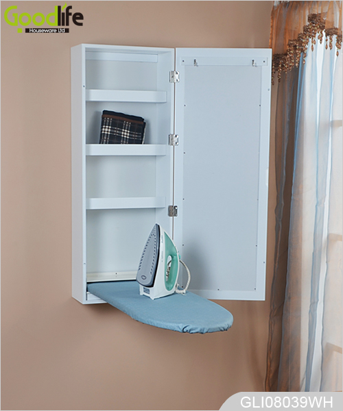 New Design Wall Mounted Mirrored Ironing Board Cabinet