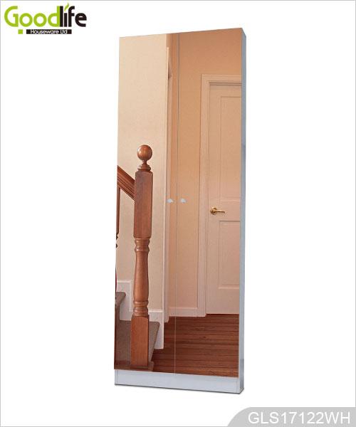 meuble chaussures en gros avec 2 portes miroir. Black Bedroom Furniture Sets. Home Design Ideas