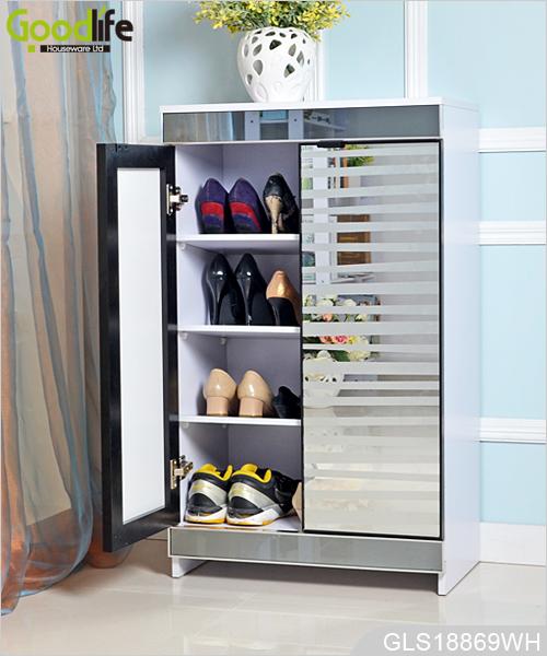Nowy design meblowy ebay amazon sk adowania drewniane buty for Mueble para zapatos con espejo