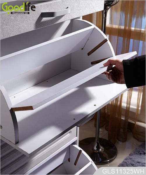 Madera armario de zapatos con zapatero ajustable dentro - Para guardar zapatos dentro armario ...