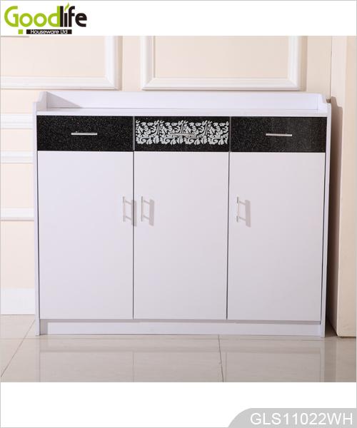 Goodlife madera gabinete de almacenamiento con 3 cajones for Gabinete de almacenamiento dormitorio