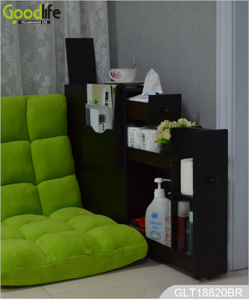 Gabinete de la esquina ba o ahorro de espacio en los for Gabinete de almacenamiento de bano de madera