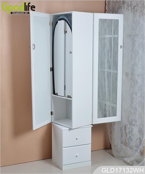 bodenst nder speicheranzeige rotierende spiegel aus holz schmuck schrank. Black Bedroom Furniture Sets. Home Design Ideas