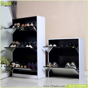 3+2 Luxury mirrored shoe cabinet two in one