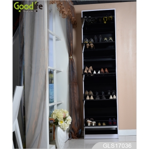 3+2 Wooden mirror shoe cabinet GLS17036