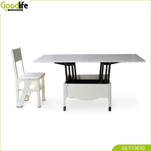 Adjustable height dining table coffee table for living room and hotel
