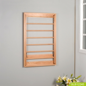 Bathroom folding wooden rack China supplier