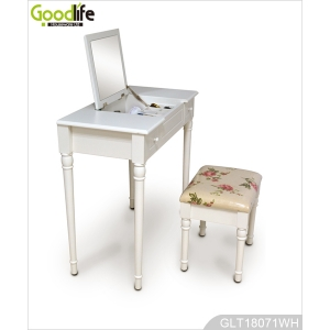 Bedroom furniture building blocks wooden makeup table with mirror