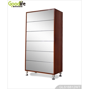 Bedroom furniture shoe storage cabinet with mirror drawers made in China