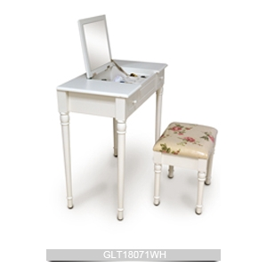Bedroom painted mdf and solid wood dressing table with for Womens dressing table
