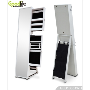 Cheap price factory direct mirrored jewelry cabinet wholesale