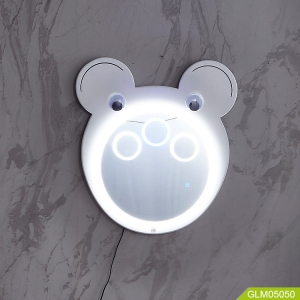 Children wall led mirror with bluetooth and speaker