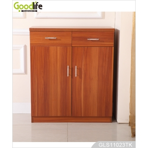 China factory shoe cabinet double door with 2 drawers