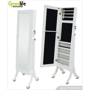 China supplier furniture wooden cabinet for jewelry with floor standing GLD15339