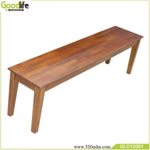 China supplier mahogany long solid wood bench for meeting table outdoor multifunction chair wooden bench