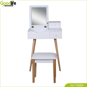 Chinese Shenzhen Goodlife Dressing Table furniture with solid wood stand and mirror desig GLT18064