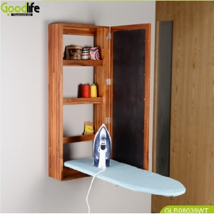Chinese factory solid wood ironing board storage cabinet