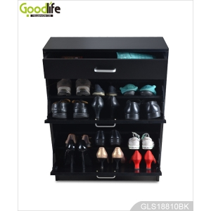 Chinese furniture corner shoe cabinet with drawer