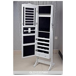 chinoise armoire de rangement bijoux en bois pleine longueur miroir dressing de goodlife. Black Bedroom Furniture Sets. Home Design Ideas