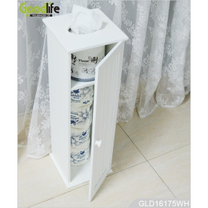Creative furniture Europe style wooden tissue storage cabinet with standing function