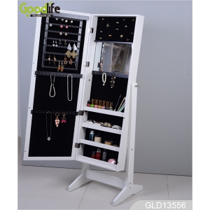 Elegance  jewelry storage cabinet makeup rack GLD13556