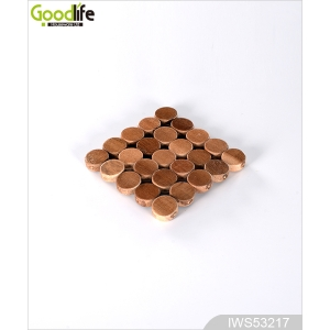 Elegance rubber wood coaster Water-poor cup mat IWS53217