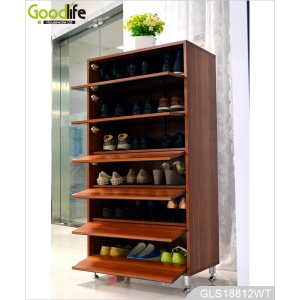 Elegant style storage cabinet with dressing mirror for shoes storage GLS18812B