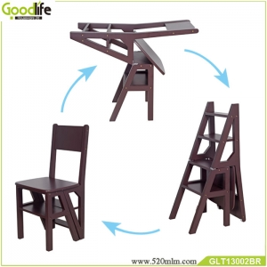 Fashion new design wholesale outdoor leisure folding ladder cheap wooden chair furniture GLC13002