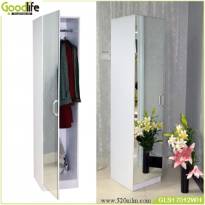 Floor  standing  full length mirror clothes cabient  GLS17012
